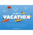 Best offer for vacation banner vector image vector image