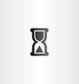 black sand clock icon time concept vector image