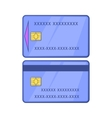 Blue credit cards icon in cartoon style vector image vector image