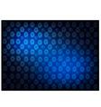 Blue Vintage Wallpaper with Flower Pattern vector image