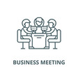 business meeting line icon linear concept vector image vector image