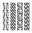 Car tire tracks - set vector image