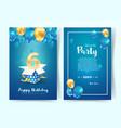 celebration 6 th years birthday vector image
