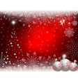 christmas red background with white balls vector image vector image