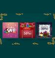 christmas sale collection christmas discount vector image