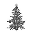christmas tree single icon in monochrome style for vector image