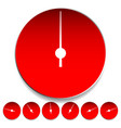 circle dial gauge template editable vector image