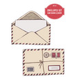 collection hand drawn envelopes vector image