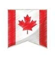 colored flag pennant canadian vector image vector image