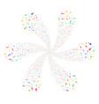 confetti stars swirl twist vector image vector image