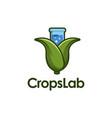 corn and beaker logo icon vector image vector image