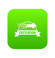cuttlefish shop icon green vector image vector image