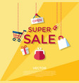 digital yellow shopping vector image vector image