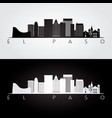 el paso usa skyline and landmarks silhouette vector image vector image