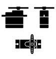 electric rc model servo black symbols vector image vector image