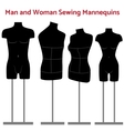 Female and man body mannequin set vector image vector image