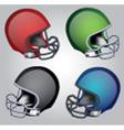 Football helmets vector image vector image