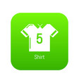 football shirt icon green vector image