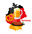 german food on map germany vector image vector image
