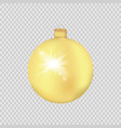 gold christmas ball isolated on a transparent vector image