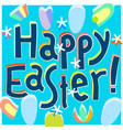 happy easter greeting card design template happy vector image vector image