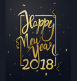 happy new year background with gold confetti vector image