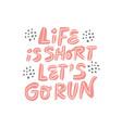 healthy lifestyle slogan hand drawn vector image