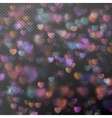 Hearts bokeh as effect EPS 10 vector image vector image