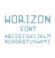 horizon font alphabet vector image vector image
