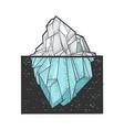 iceberg sketch vector image vector image