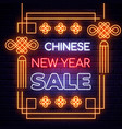 illuminated neon signs chinese holiday vector image