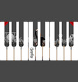 isolated keyboard image vector image