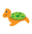 isolated stuffed turtle toy vector image vector image