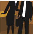 lady and man in office vector image vector image