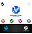 letter k for digital logo marketing financial vector image vector image
