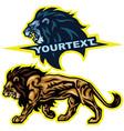 lion logo set premium design vector image vector image