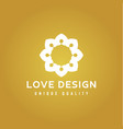 love design abstract colors on a gold background vector image vector image