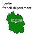 Lozere french department map vector image vector image