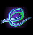 modern colorful 3d flow dynamic wave vector image vector image