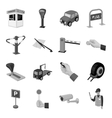 Parking zone set icons in monochrome style Big vector image vector image