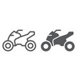 quadbike line and glyph icon bike and extreme vector image vector image
