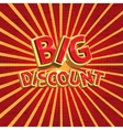 Red discount background vector image vector image