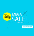 sale banner template design mega sale special vector image