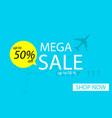 sale banner template design mega sale special vector image vector image