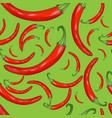 seamless background of red hot peppers vector image