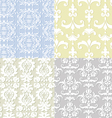 seamless damask backgrounds vector image vector image