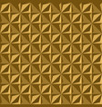 seamless gold volume 3d background geometric vector image