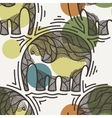 seamless pattern with elephants crooked vector image vector image
