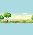 seamless summer landscape vector image vector image