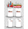 set mockup shirt with delivery theme vector image